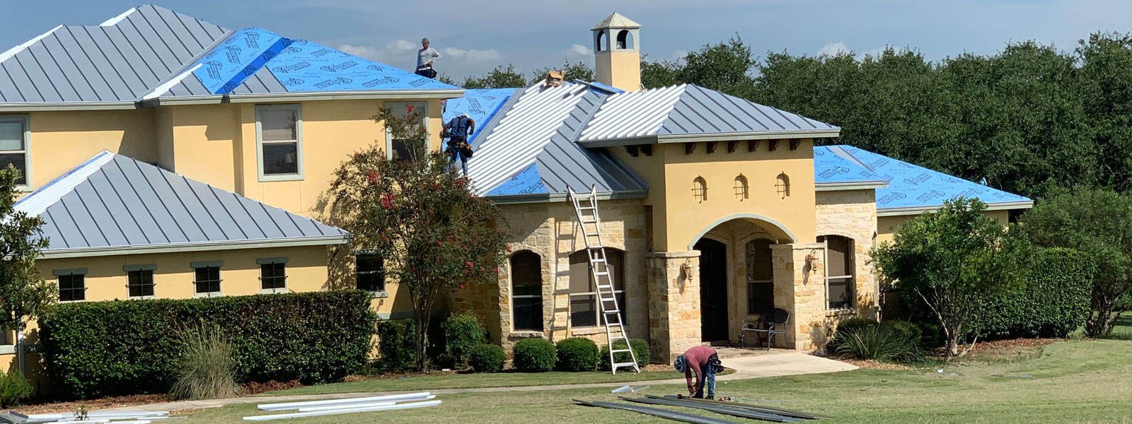 Bear Roofing metal roofing job